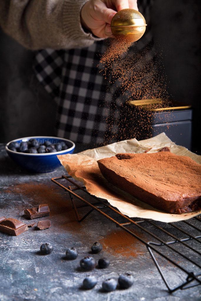 brownie photo in dark key