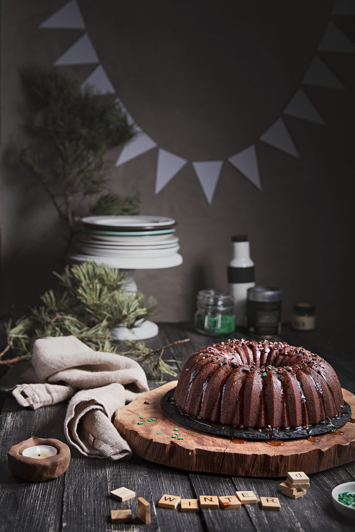 christmas choco bundt cake