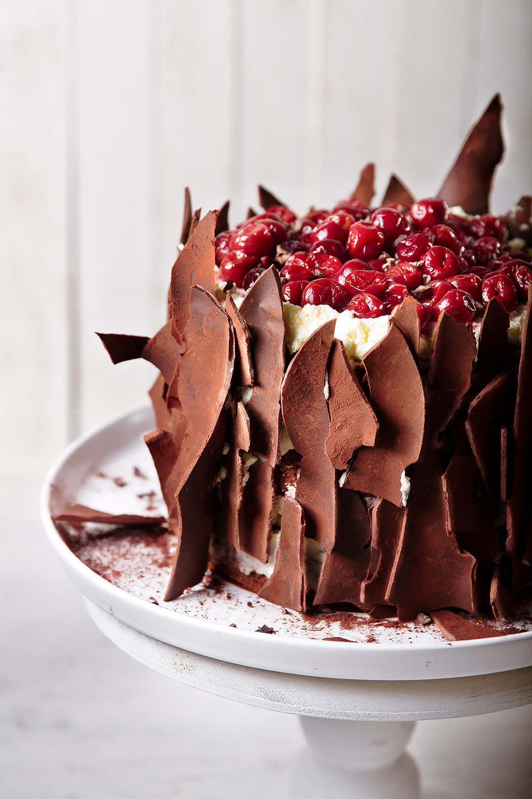 top with cherries of black forest cake